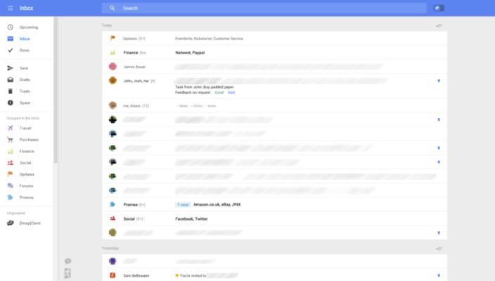 Google тестирует новый дизайн и возможности web-gmail