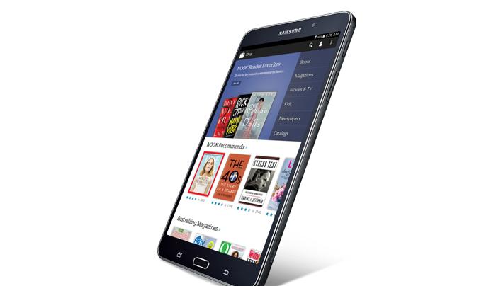 Samsung объединяется с Barnes & Noble для выпуска Galaxy Tab 4 Nook