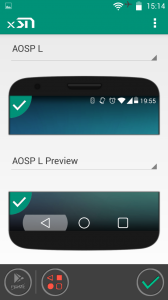 Навигационный бар Android L Preview
