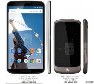 Nexus 6 vs Nexus One